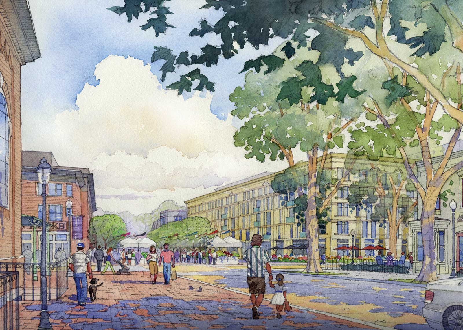 700 Penn Watercolor Rendering